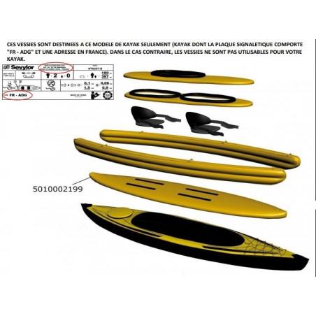 VESSIE DE PLANCHER POUR KAYAK POINTER K2 (avant 2014) SEVYLOR 80929 / 5010002199