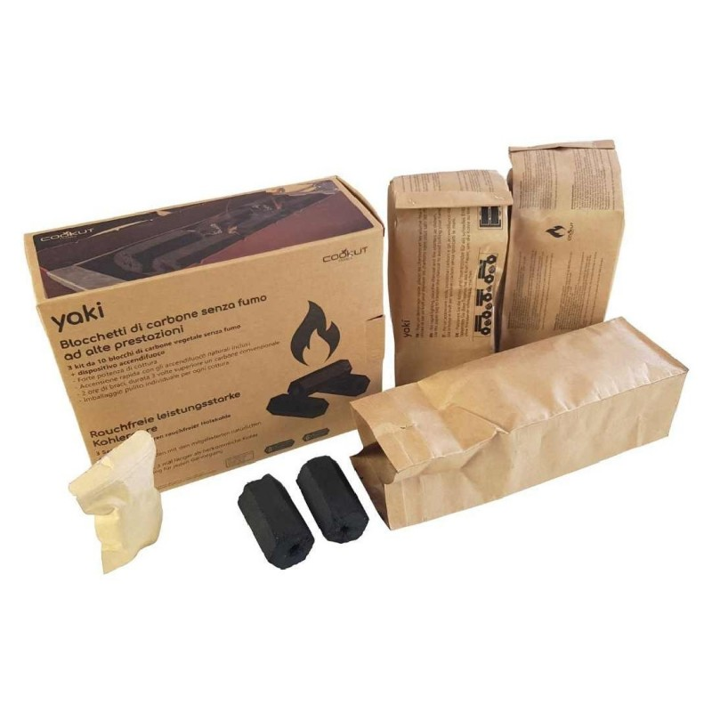 """RECHARGE CHARBON POUR BARBECUE NOMADE """"BARBECUE PARTY"""" NOIR COOKUT"""